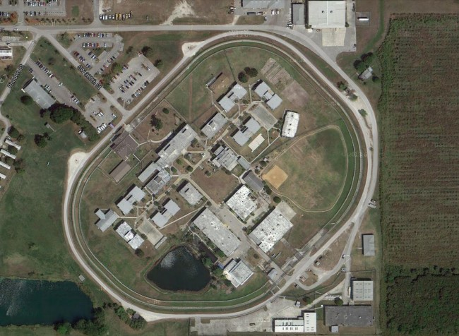 Dade prison from the air. Click on the image for larger view. (© FlaglerLive)