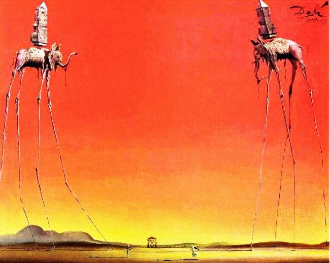 Dali's 'The Elephants' (1948).