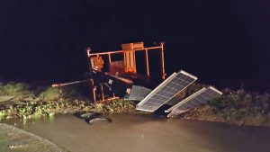 Damage in Flagler Beach, photographed this morning by Ed Siarkowicz for FlaglerWeatherInfo.