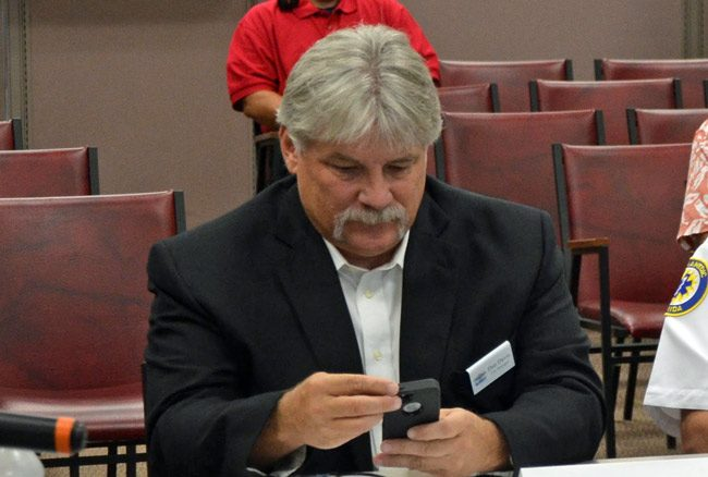 Bunnell City Manager Dan Davis: still employed at last check, but on probation. (© FlaglerLive)