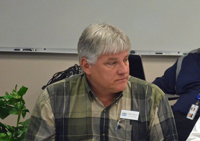 The Bunnell City Commission hired Dan Davis as its manager in December 2015. Davis was fired this evening at the end of a discussion on his latest evaluation. (© FlaglerLive)