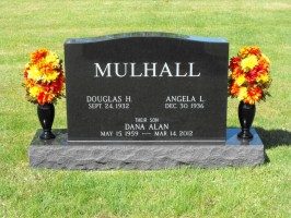 Dana Mulhall is buried in a family plot in Jackman, Maine. Click on the image for larger view. (© Mulhall family/Cindy Wellborn)