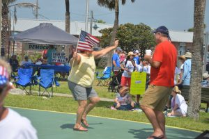 Progressives haven't had much to dance about lately, particularly in Flagler, but they did Saturday. (© FlaglerLive)