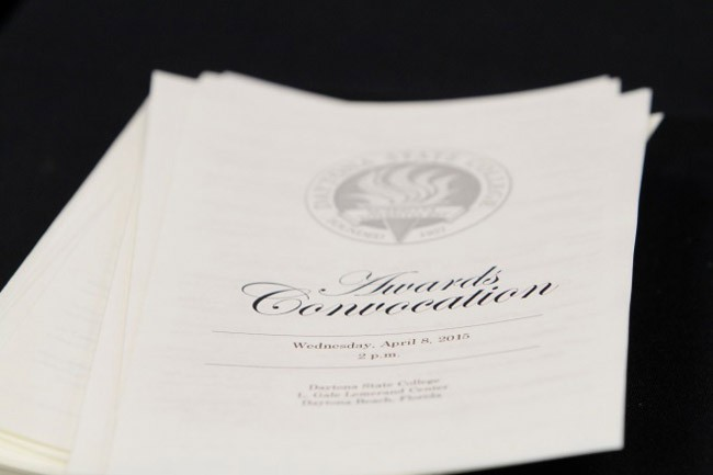 The awards convocation is the preceding event to the college's commencement exercises that will take place on May 18.