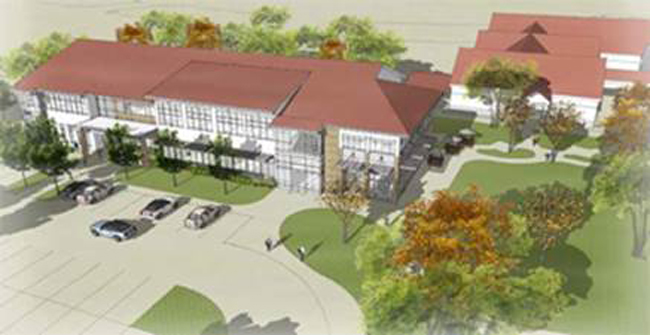 A model of the new campus. The public is welcome to the new facility for the ribbon-cutting and tours on Aug. 14.
