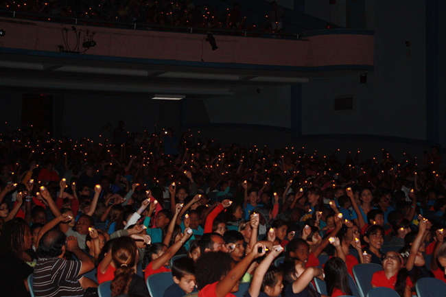 """More than 2,000 Miami-Dade County schoolchildren shined lights as they sang """"This Little Light of Mine"""" at the Amigos For Kids  event on May 12, honoring children who died because they were abused or neglected. But DCF has itself hidden the reports of children who died while under its supervision, according to a Miami Herald report."""
