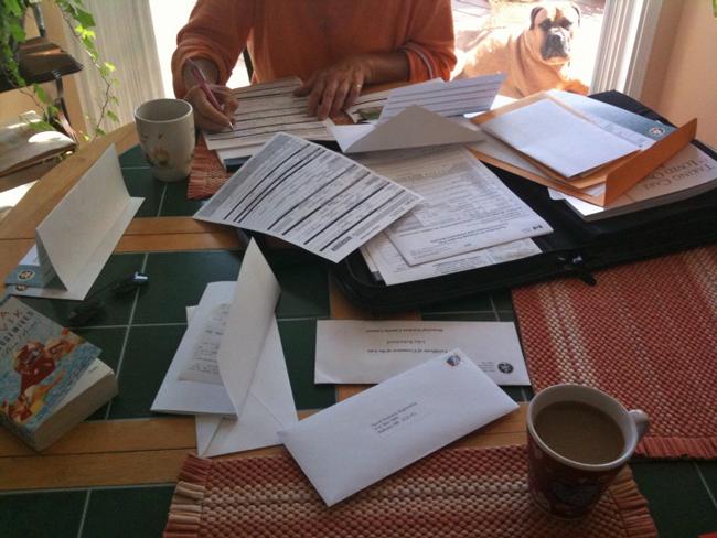 Death's paperwork. (John Patrick Robichaud)