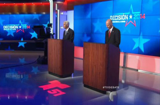 The first debate was broadcast on the Telemundo network.