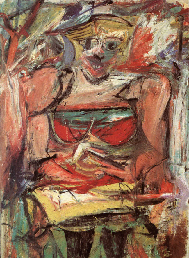 Willem de Kooning's 'Woman #5,' 1952-53.