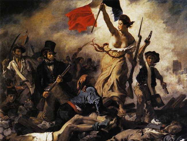 Liberty, equality, credit rating: Eugene Delacroix's 'La Liberté guidant le peuple,' Liberty Guiding the People (1830), at the Louvre.