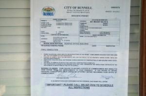 The demolition order. Click on the image for larger view. (© FlaglerLive)