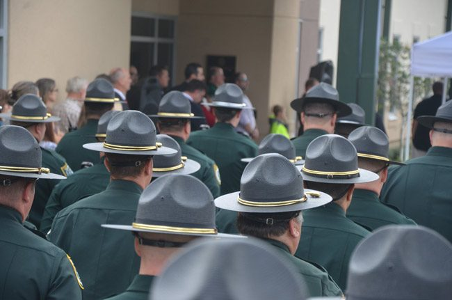 From deputies' perspective, and aside from his own public relations office's efforts, Sheriff Rick Staly is setting the right tone for the agency in his early weeks. (© FlaglerLive)