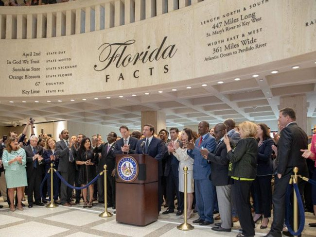 Gov. Ron DeSantis marks the end of a workmanlike legislative session. (NSF)