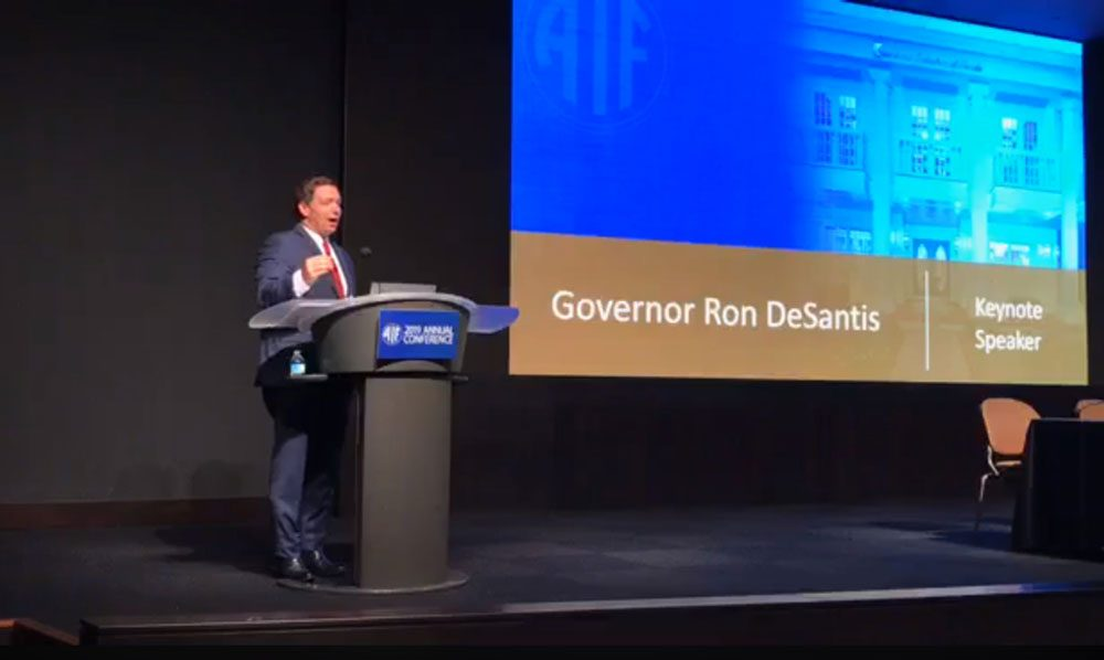 Ron DeSantis at the Associated Industries minimum wage