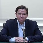 Gov. Ron DeSantis at Saturday's briefing on the coronavirus. (Via Florida Channel)