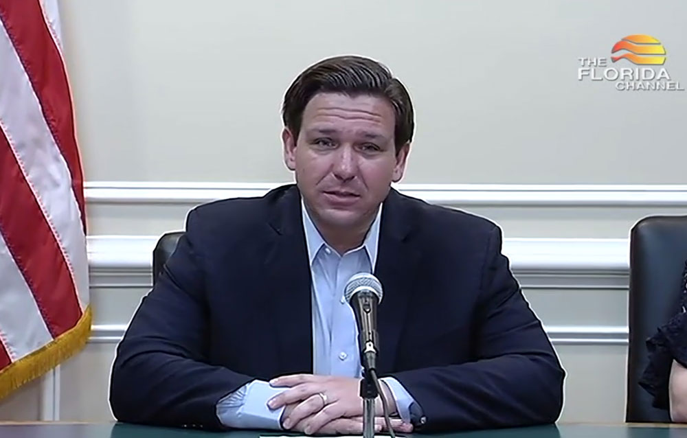 Gov. DeSantis signing order directing residents to 'limit movements' to essential activities