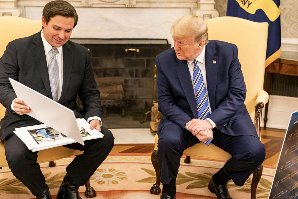 Gov. Ron DeSantis and Donald Trump have had a close relationship. (White House)