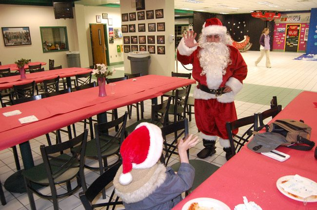 It's time for dinner with Santa at Flagler Palm Coast High School tonight, the annual fund-raiser. See details below. (© FlaglerLive)