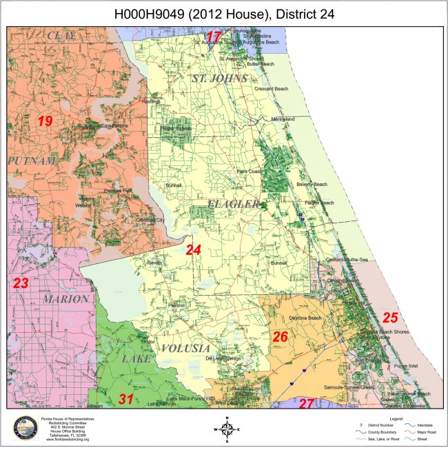 House District 24. Click on the map for larger view.