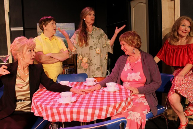 The cast of 'Dixie Swim Club,' now playing at the Flagler Playhouse. From left, Liz Gallagher, Nancy Howell, Sally McGhee, Robin Davis, Michelle O'Neil. (Flagler Playhouse)
