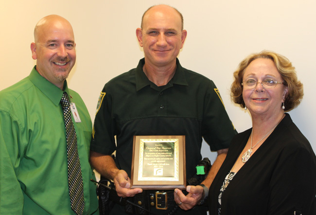 From left, Superintendent Jacob Oliva, Don Apperson and Winnie Oden. (FCSO)