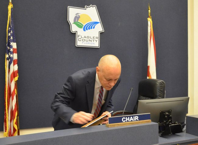 Call him Mr. Chairman: Donald O'Brien is the new County Commission chairman. (© FlaglerLive)