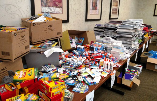 Just a portion of the donated supplies. (FHF)