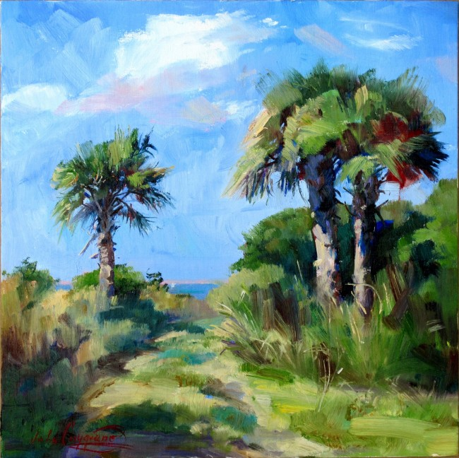 John Caggiano's 'Down and Around,' the chosen poster for the 3rd Annual Canaveral Seashore Plein Air Paint Out in new Smyrna Beach. The paint out is scheduled for Oct. 21 through the 27th.