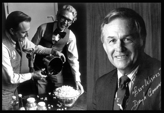 Doyle Conner with 'Popcorn King' Orville Redenbacher. (State Archives of Florida, Florida Memory)
