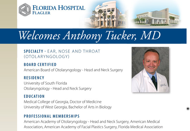 dr. anthony tucker ear nose and throat md florida hospital flagler palm coast