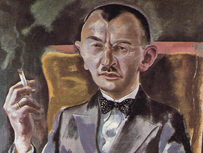 Detail from George Grosz's 'Dr. Eduard Plietzsch.' (1928) medical marijuana