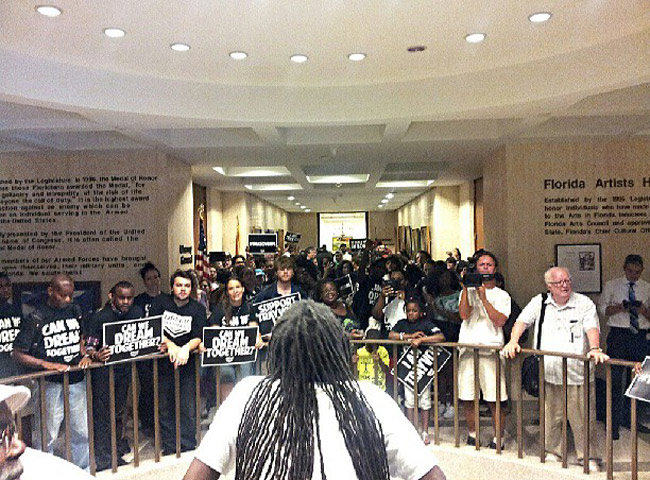 The Dream Defenders at the Capitol are entering their second weekend of protest. (Facebook)