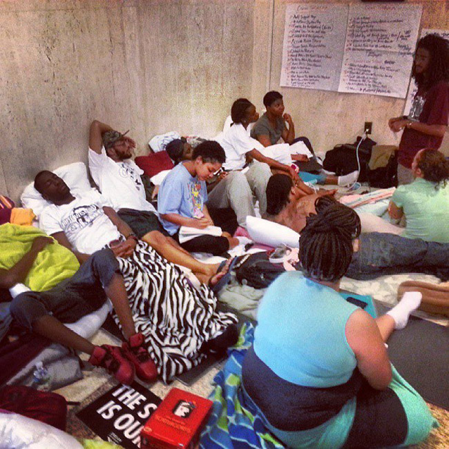 The Dream Defenders' camp-out on Day 5. (Facebook)