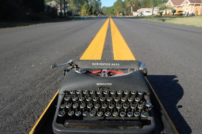 texting sexting driving typewriter