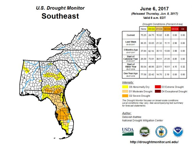 drought monitor june 2017