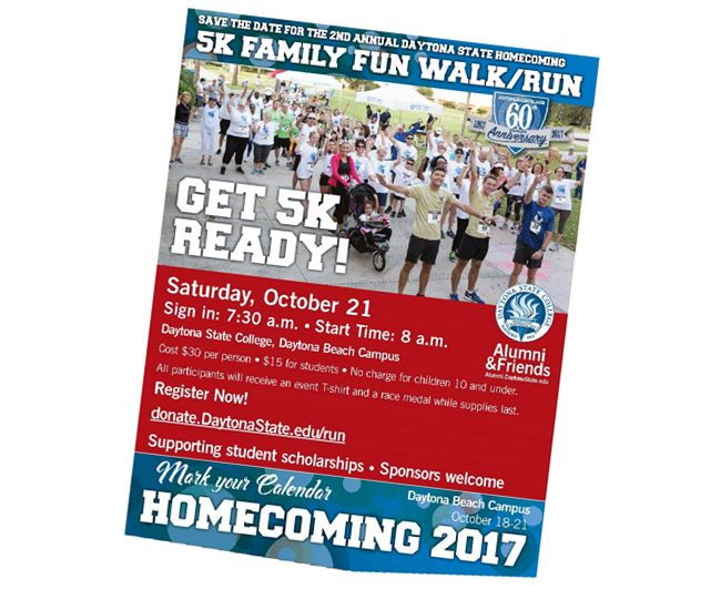 daytona state college 5k homecoming 2017