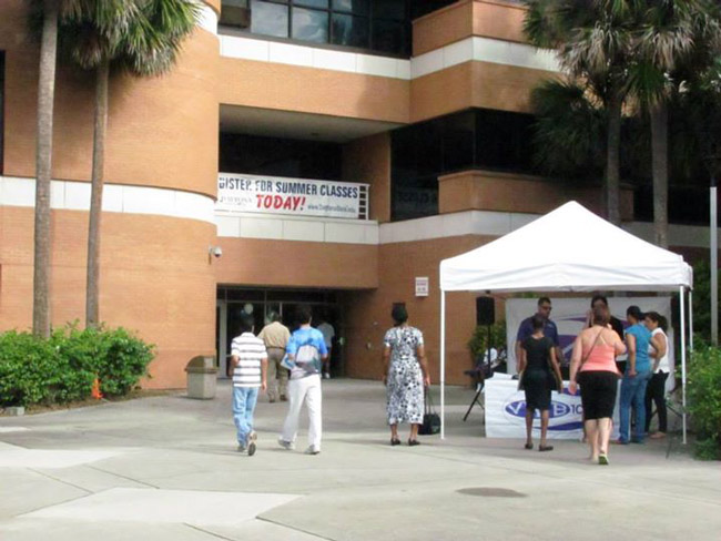 Daytona State College enrollment at the Wetherell Center is scheduled for Aug. 19.
