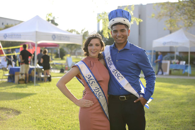 Jeremiah Marroquin and Alyssa Gage were crowned Mr. & Ms. Daytona State College