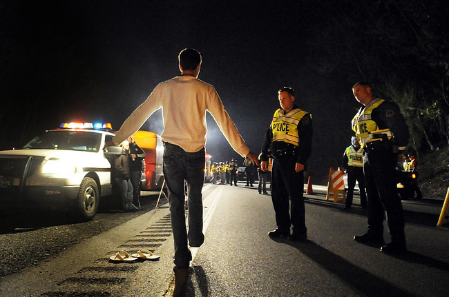 What they call a field sobriety exercise. (Law Enforcement Today)