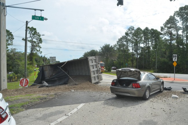 sump truck palm coast parkway wreck
