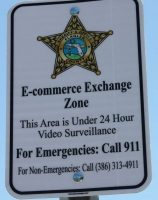 The sign up close. Click on the image for larger view. (FCSO)