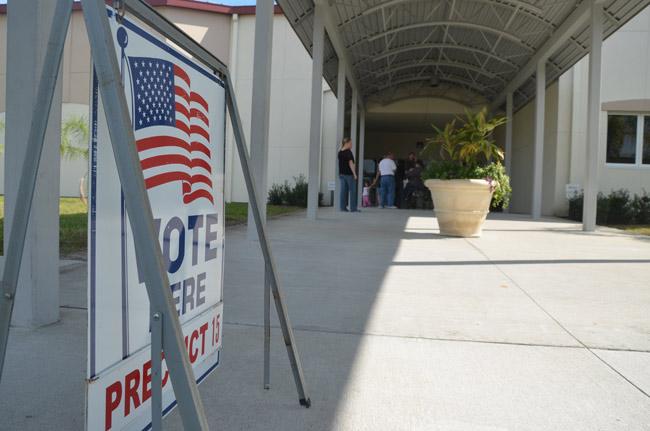 Florida Republicans have a problem with making voting easier. (© FlaglerLive)