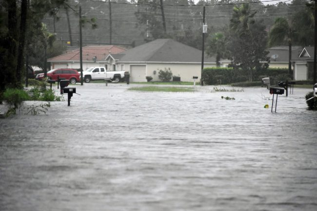 Significant flooding in the Easthampton area of Palm Coast's E Section. (Palm Coast)