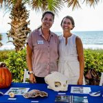 Taste of the Fun Coast at Hammock Beach raised almost $7,000 in three hours Monday for the Sea Turtle Hospital at the University Of Florida's Whitney Lab in Marineland. Left, Catherine Eastman, director of the hospital, with Emily Godron, the development coordinator. (via David Ayres, WNZF)