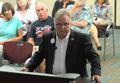 Ed Danko in a screen capture at Wednesday's city council meeting.