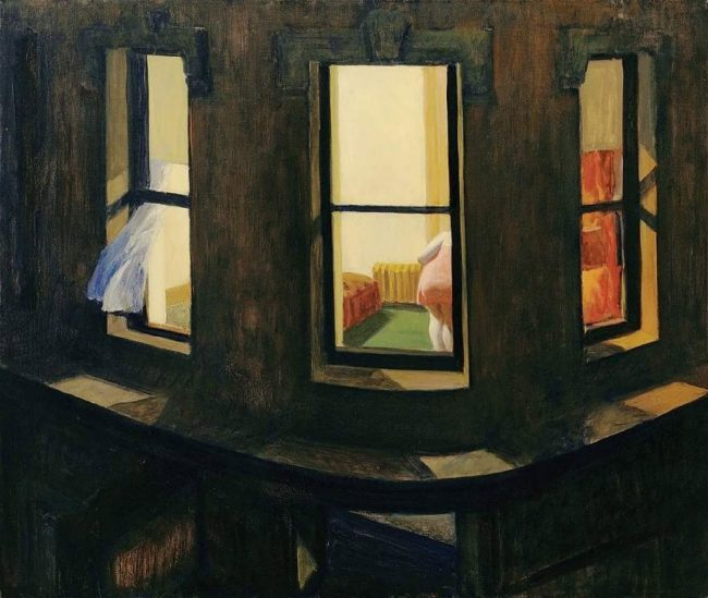 'If you could say it in words, there would be no reason to paint,' said Edward Hopper. Above, his 'Night Windows,' from 1928.