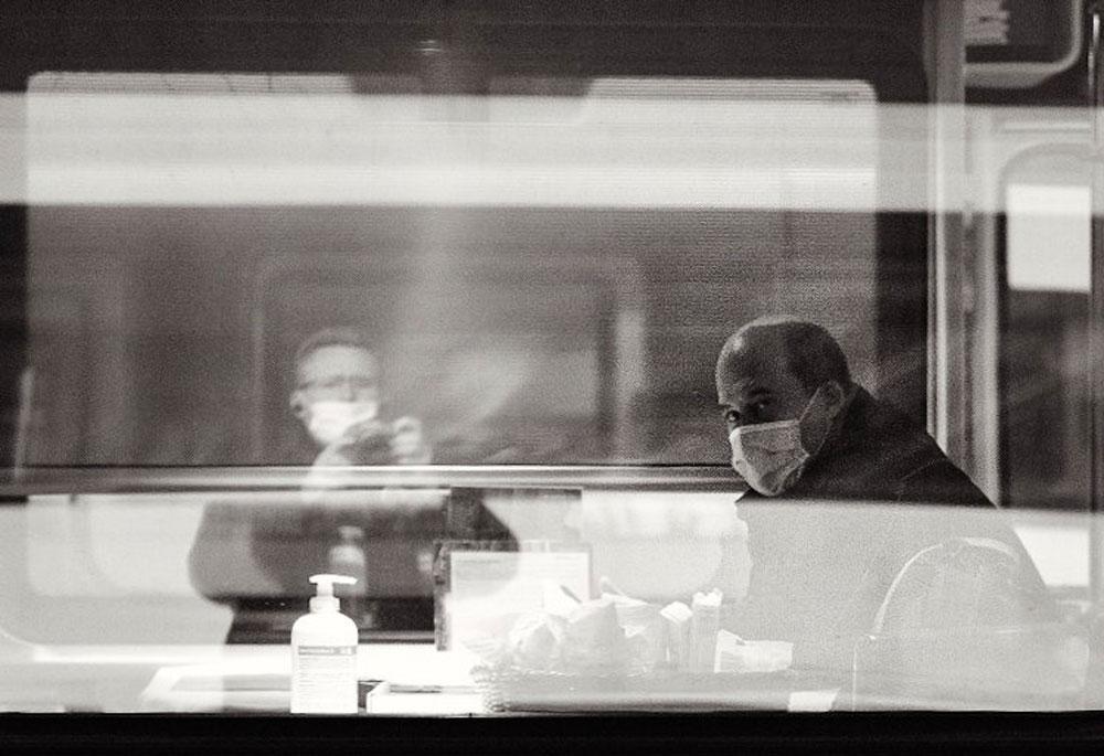 A Covid-era Edward Hopper scene. (Transformer18)