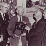 Dwight Eisenhower receiving the Eisenhower Civitan World Citizenship Award in 1966. (Wikimedia Commons)