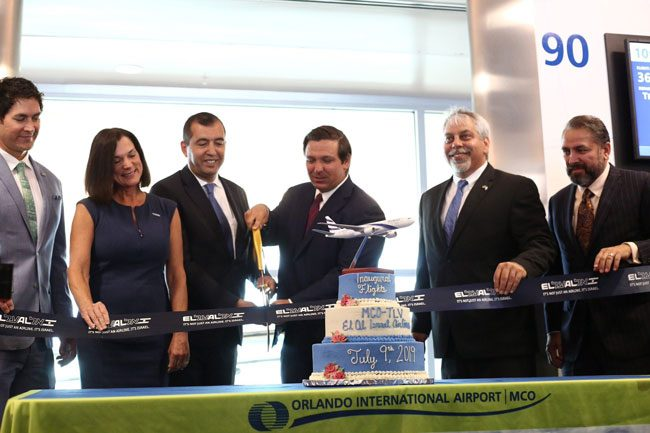 Gov. Ron DeSantis on July 9 marked the inaugural of two non-stop flights a week to Tel Aviv as one outcome of his trip to Israel in June. But the flights will largely benefit El Al, the Israeli carrier. Numerous other carriers, including Delta, American Airlines, Virgin Atlantic, Air Canada, Lufthansa, and others have long provided service from Orlando to Tel Aviv.