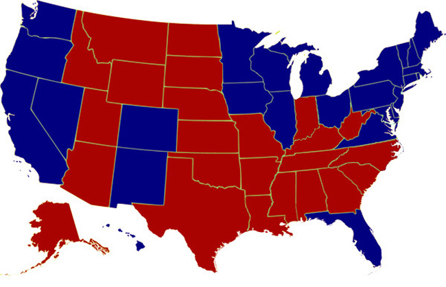 The final 2012 electoral map.